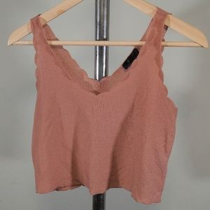 Topshop Scalloped Tank
